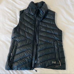 Black under armour puffer vest